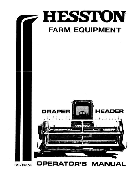 Hesston 6450 Draper Header Manual