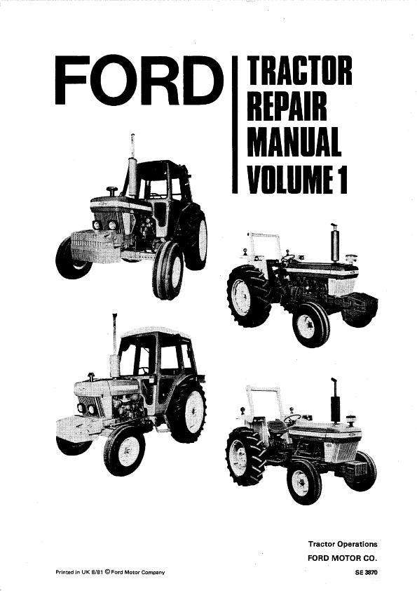 Ford 2610, 2910 3610, 3910, 4110, 4610, 5610, 6610, 6710
