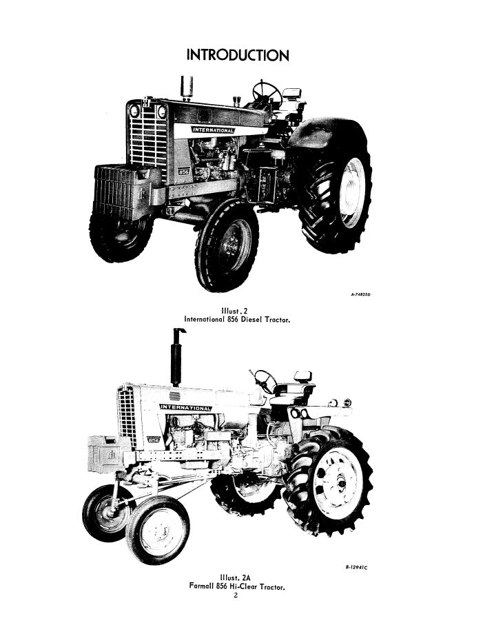 International 856 Tractor Manual