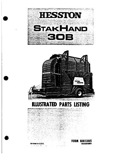 Hesston 30, 30A, and 30B Stackhand - Parts Catalog