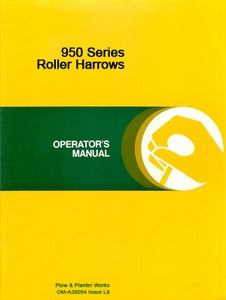 John Deere 950 Series Roller Harrows Manual