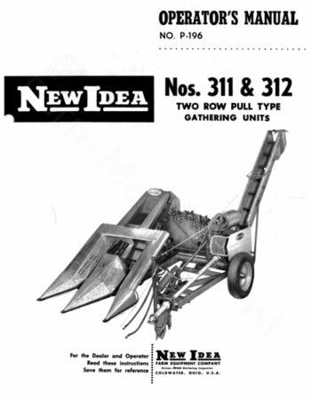 New Idea 311 and 312 Picker Manual
