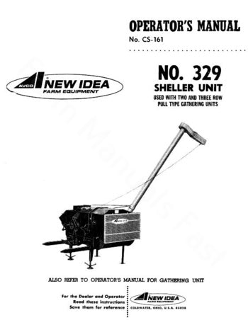 New Idea 329 Sheller Unit Manual