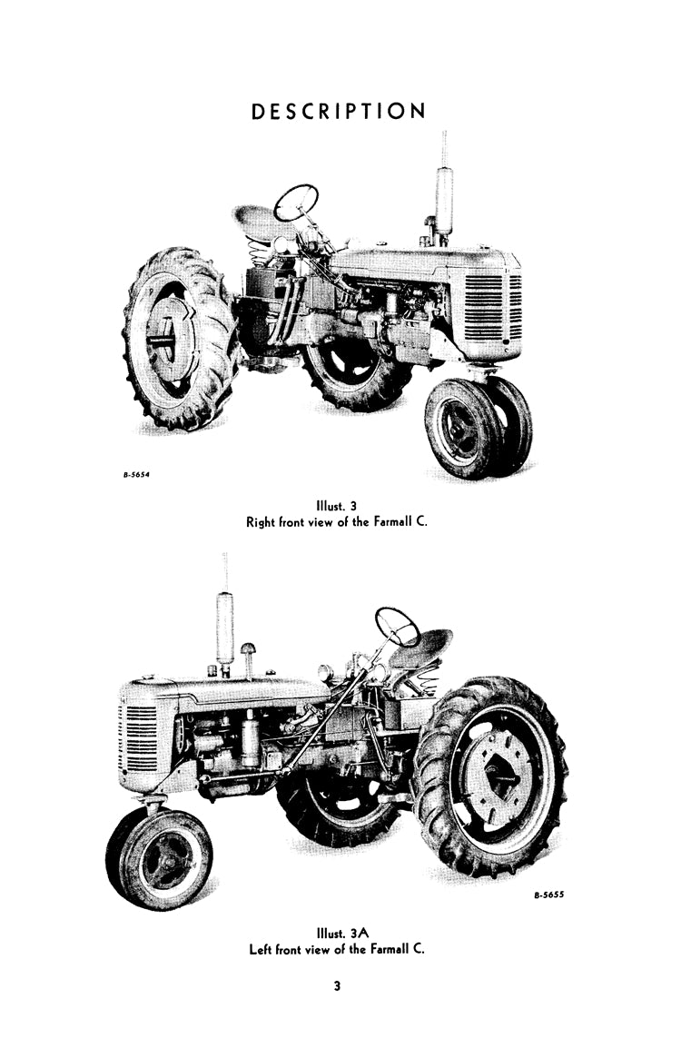 Additional pictures of the International Farmall C and Super C Tractor  Manual.