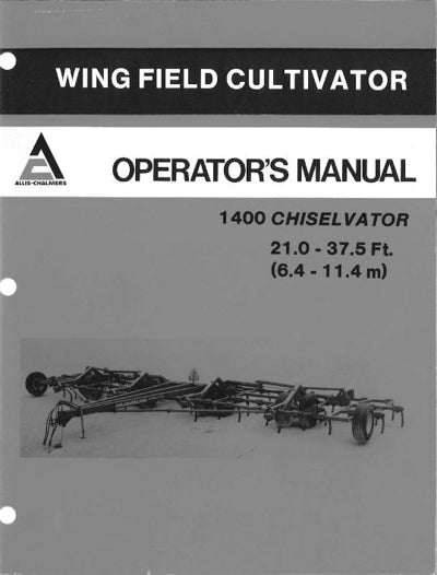 Allis-Chalmers 1400 Chiselvator Manual