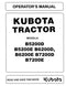 Kubota B5200D, B5200E, B6200D, B6200E, B7200D, and B7200E Tractor Manual