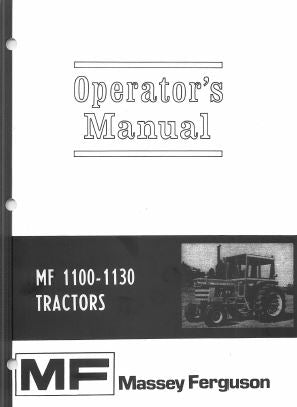 Massey Ferguson 1100 and 1130 Tractor Manual | Farm Manuals Fast