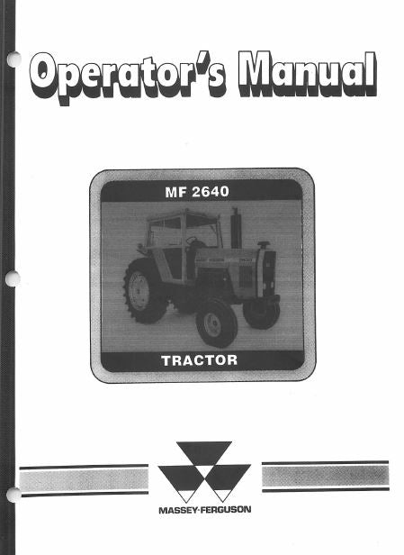 Massey Ferguson 2640 Tractor Manual | Farm Manuals Fast
