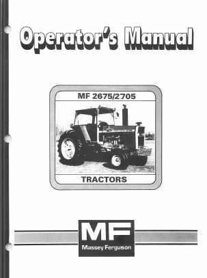 Massey Ferguson 2675 and 2705 Tractor Manual