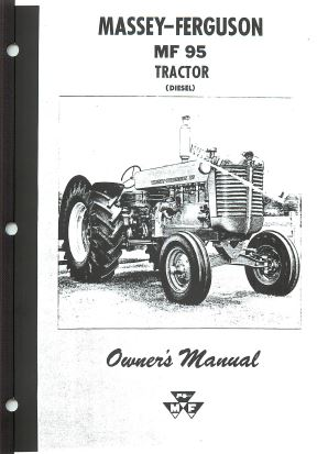 Massey Ferguson 95 and Super 95 Tractor Manual