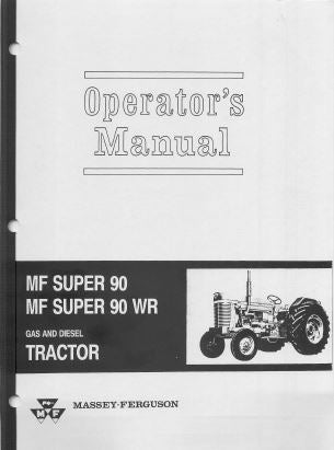 Massey Ferguson 90, Super 90 and Super 90 WR Tractor Manual