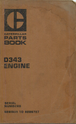 Caterpillar D343 Engine - Parts Book