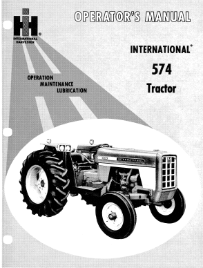 International 574 Tractor Manual