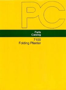 John Deere 7100 8RW and 12RN Folding Planter - Parts Catalog