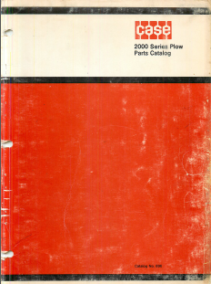 Case 2000 Series Plow - Parts Catalog