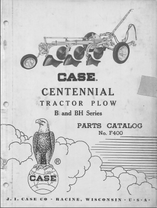 Case B and BH Series Plow - Parts Catalog