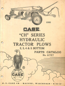 Case CH Series Hydraulic Plows 2, 3, 4, 5 - Parts Catalog