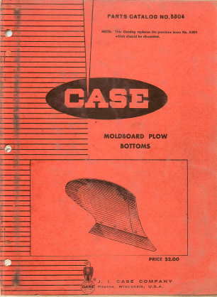 Case Moldboard Plow Bottoms - Parts Catalog