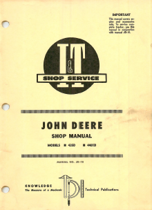 John Deere 435D and 4401D Tractor - Service Manual