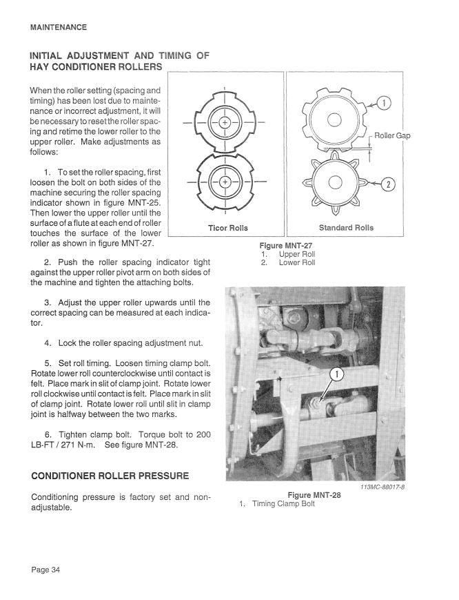 Case 8340 Mower Conditioner Manual
