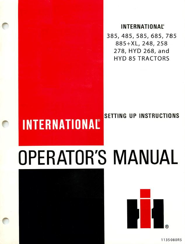 international 385 485 585 685 785 885 248 258 and 278 rh farmmanualsfast com Case IH Tractor Manual Tractor Manual Thickness