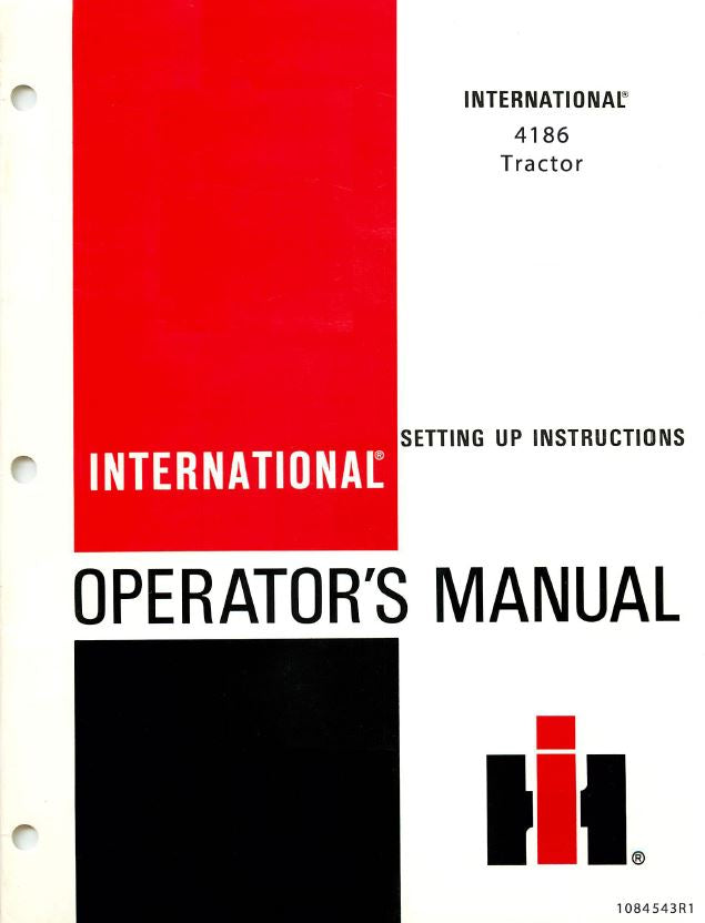 International 4186 Tractor Manual