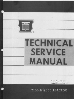 Oliver 2155 and 2655 Tractor - Service Manual