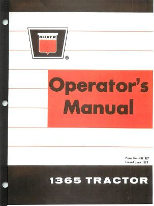 Oliver 1365 Tractor Manual