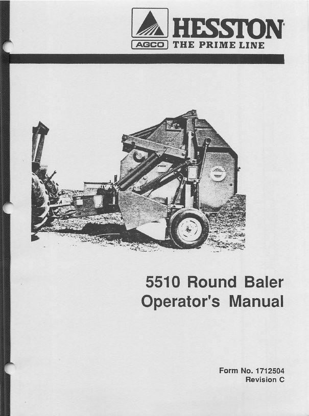 Hesston 5510 Round Baler Manual | Farm Manuals Fast