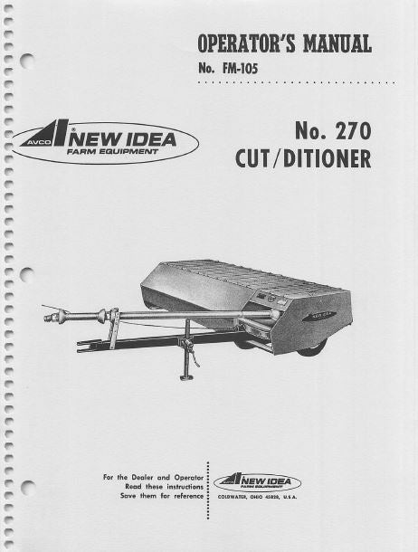 New Idea 270 Cutter Manual