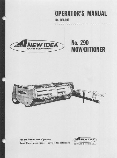 New Idea 290 Mower Manual