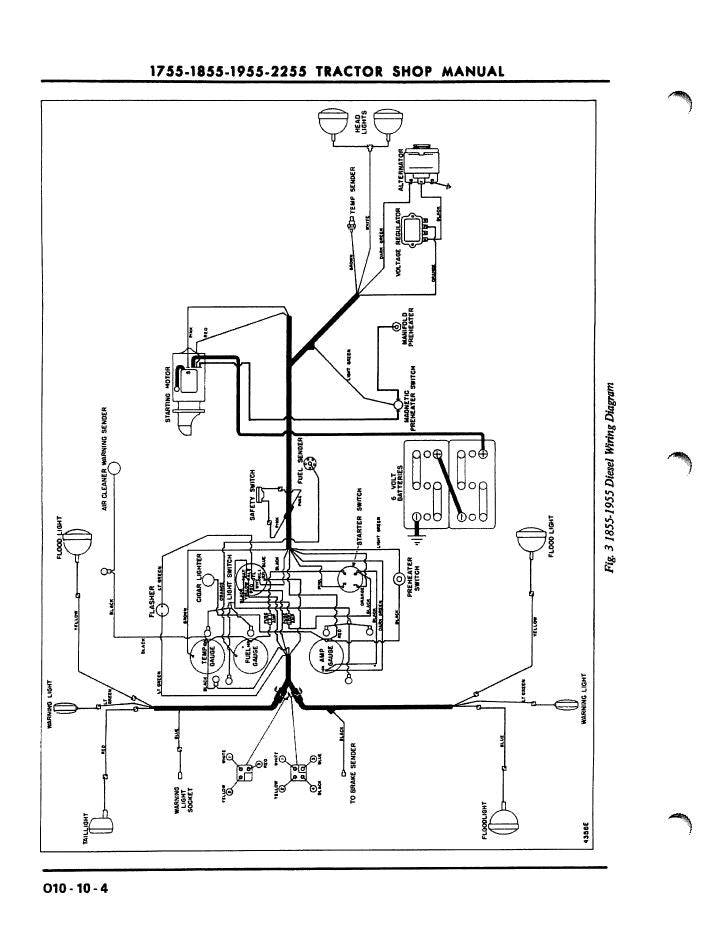 oliver diesel tractor wiring diagram oliver 1755  1855  1955  and 2255 tractor service manual farm  oliver 1755  1855  1955  and 2255