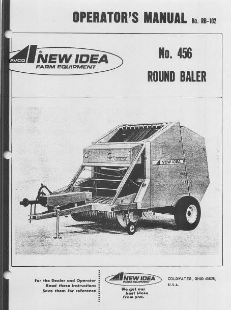 New Idea 456 Round Baler Manual