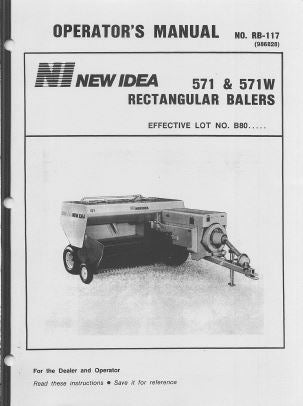 New Idea 571 and 571W Baler Manual