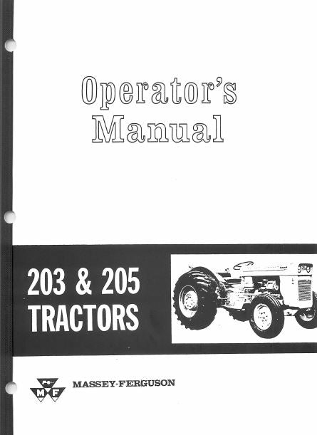 Massey Ferguson 203 and 205 Tractor Manual