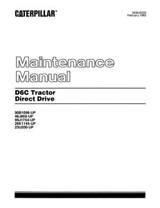 Caterpillar D6C Tractor - Maintenance Manual
