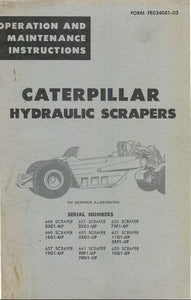Caterpillar Hydraulic Scrapers