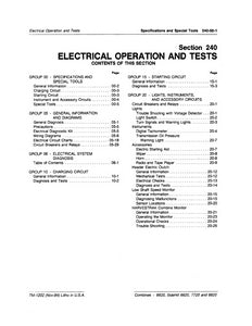 "John Deere 6620, SideHill 6620, 7720 and 8820 Combine ""Electrical Operation and Tests"" - Technical Manual"