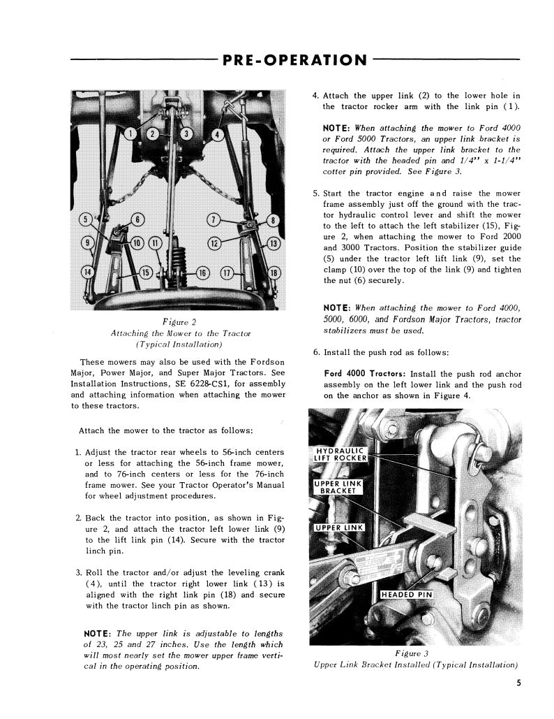 Ford 501 series rear attached mower manual | farm manuals fast.
