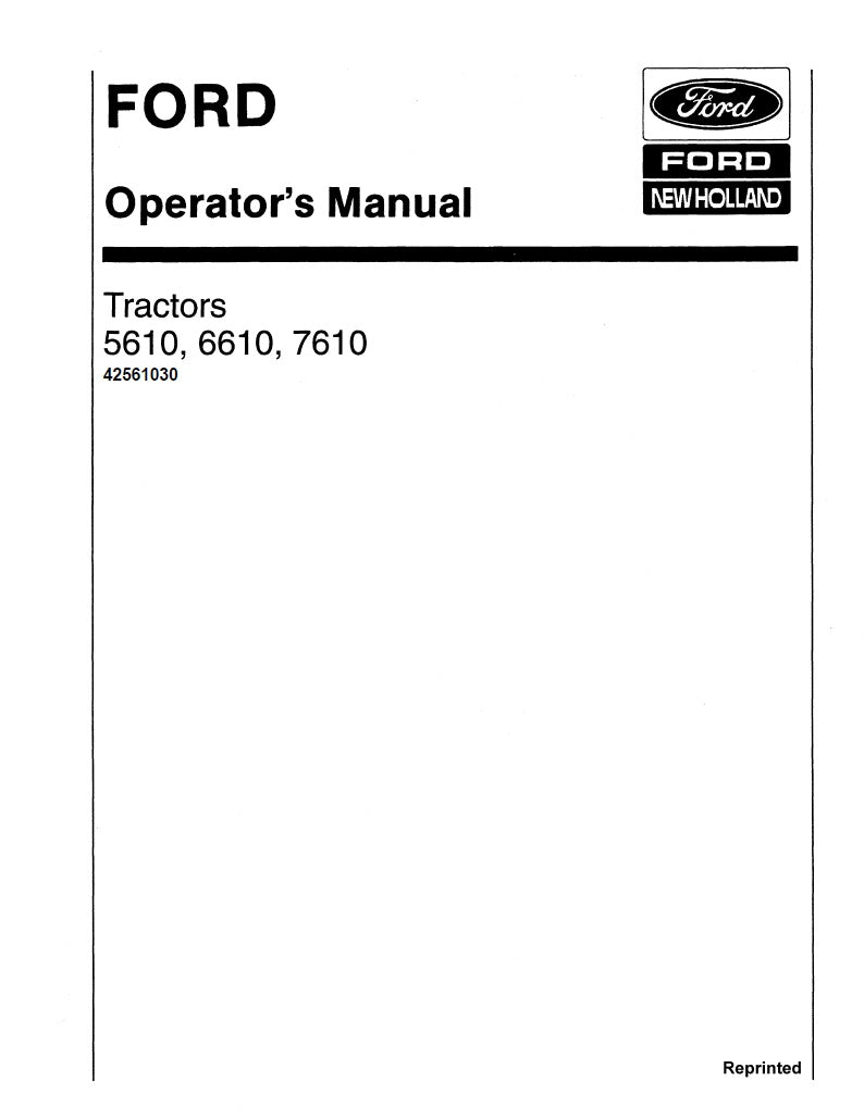ford 5610 6610 7610 ii and 7810 includes s models tractors rh farmmanualsfast com ford 6610 tractor manual download free ford 6610 tractor manual download