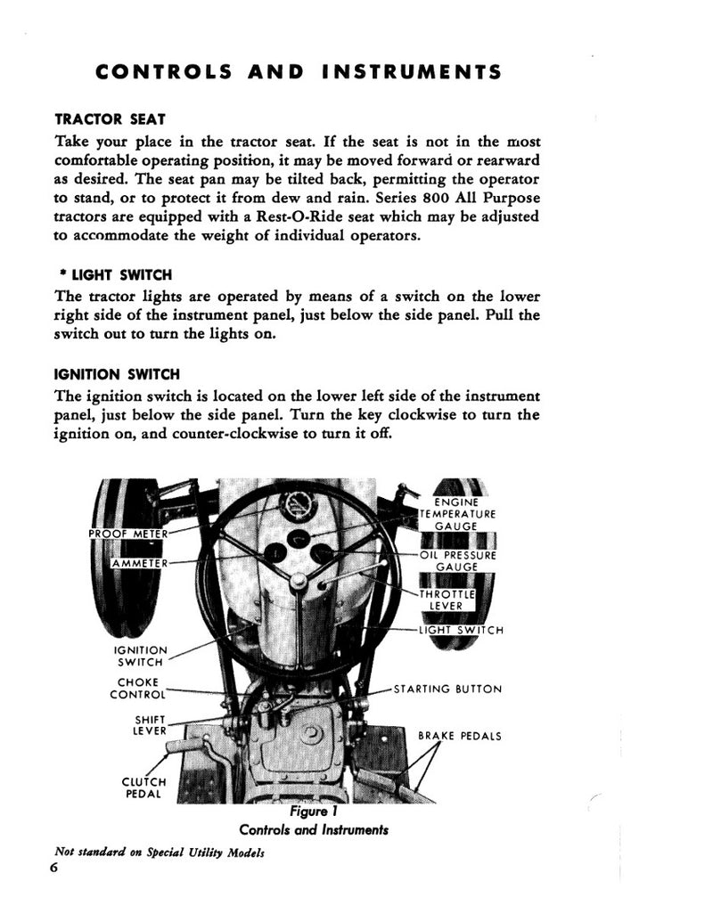 Ford 600, 620, 630, 640, 650, 660, 800, 820, 850, and 860 Tractors Manual