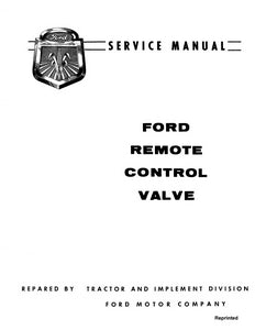 Ford Remote Control Valve - Service Manual