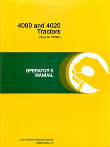John Deere 4000 and 4020 Tractor - Operators Manual