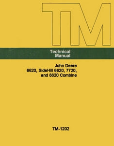 John Deere 6620, SideHill 6620, 7720 and 8820 - COMPLETE Technical Manual