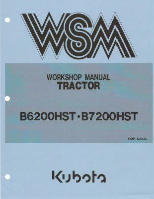 Kubota-B5200HST and B7200HST Service Manual