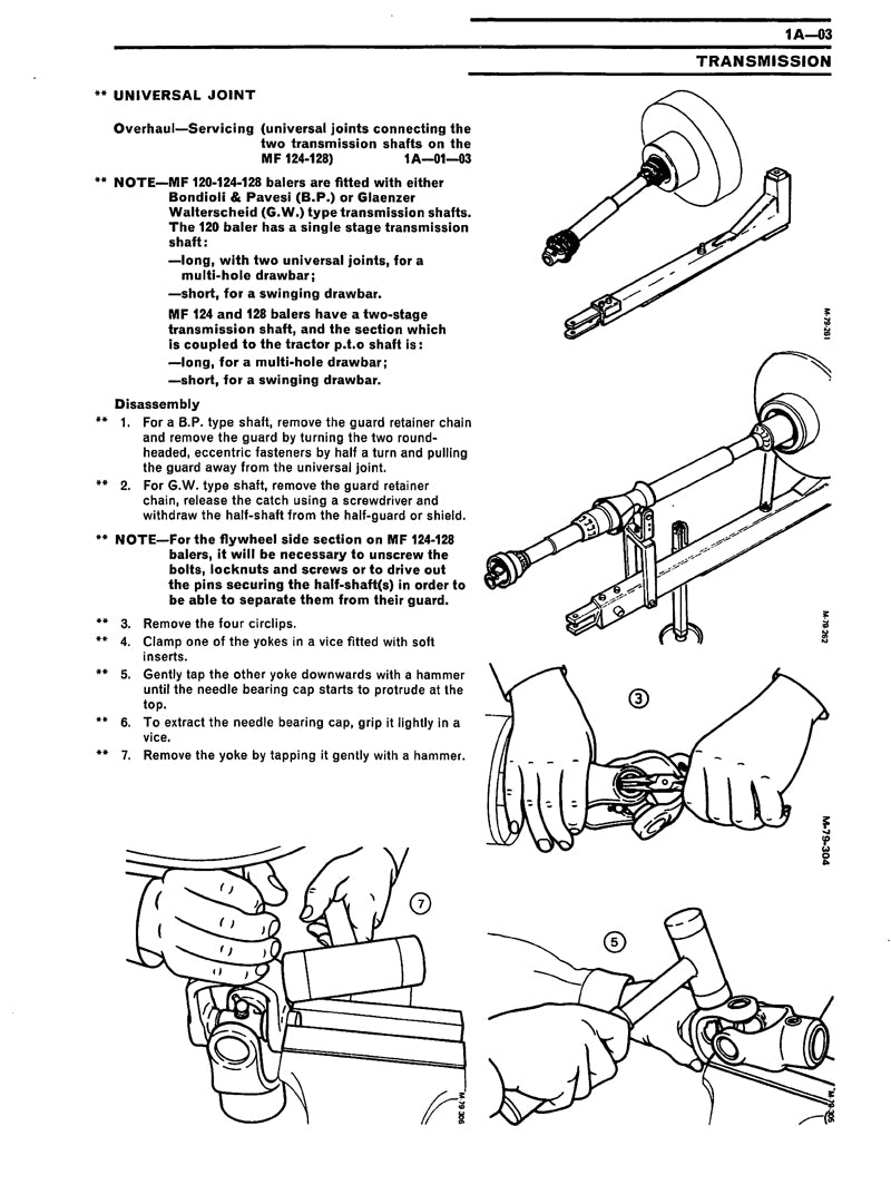 ... Additional pictures of the Massey Ferguson 120, 124, and 128 Baler -  Service Manual ...