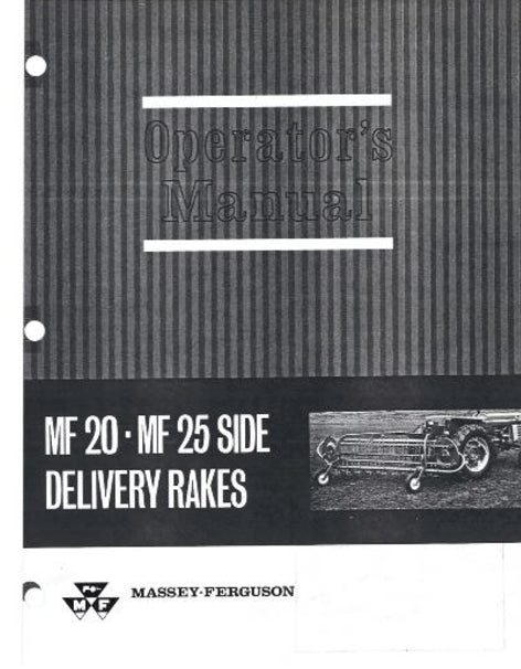Massey Ferguson 20 and 25 Rake Manual