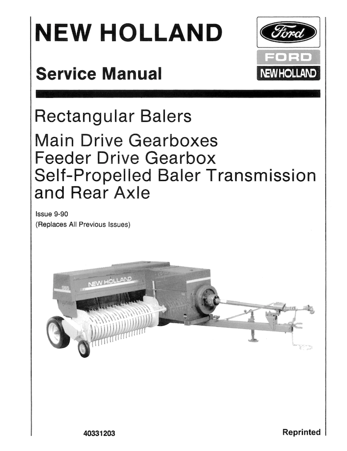 New Holland Baler Knotters - Service Manual | Farm Manuals Fast