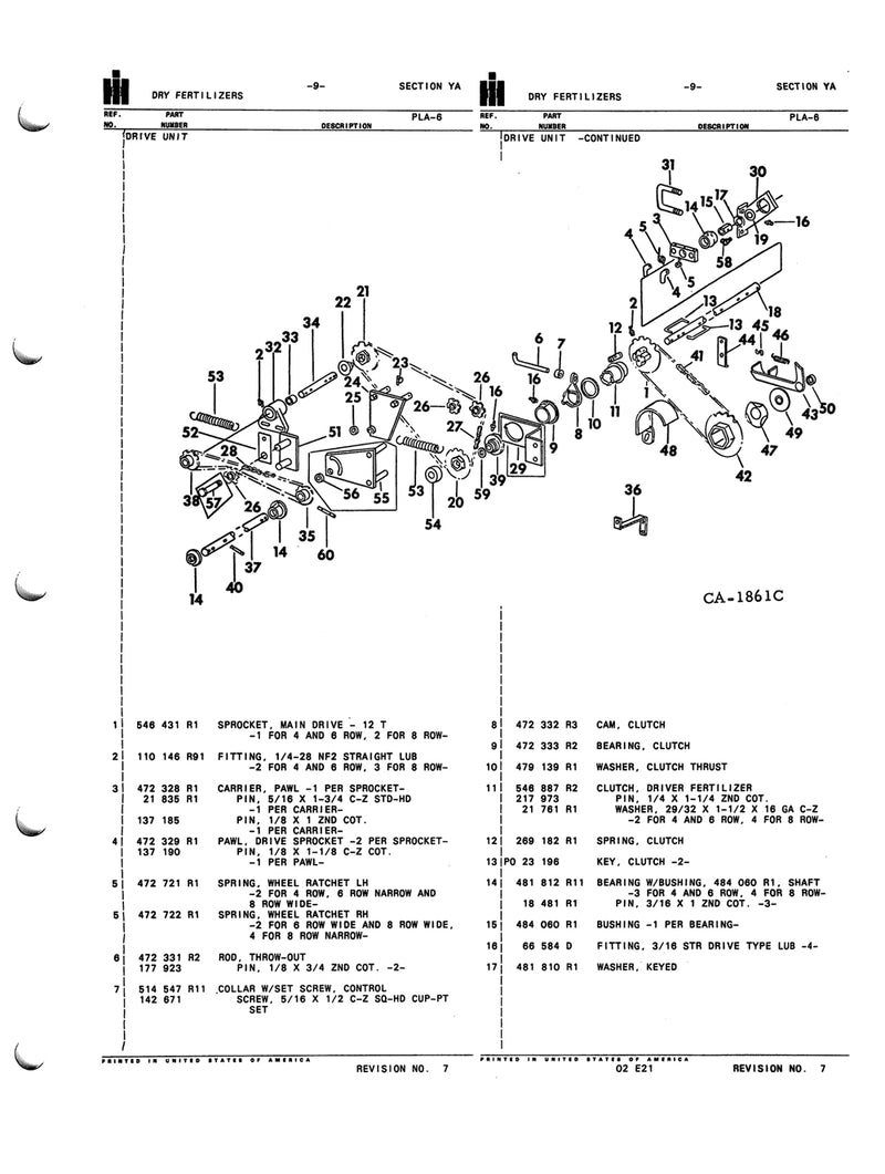International 400 and 500 Planters - COMPLETE Parts Catalog