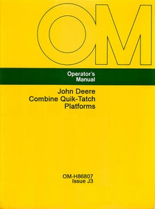 John Deere Combine Quik-Tatch Platforms Manual